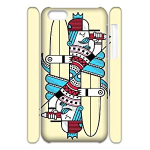 LASHAP Phone Case Of double playing card for iPhone 5C