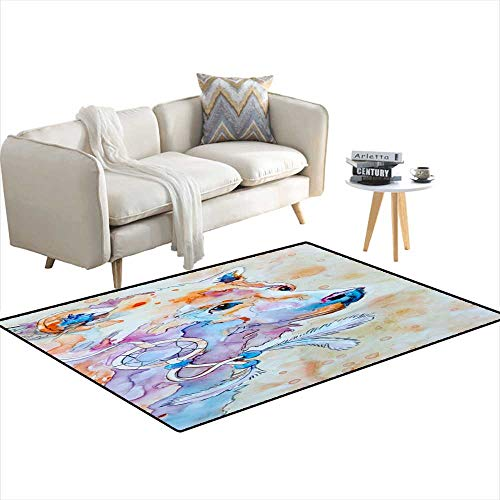 Kids Carpet Playmat Rug Brother Spirit Bear 48