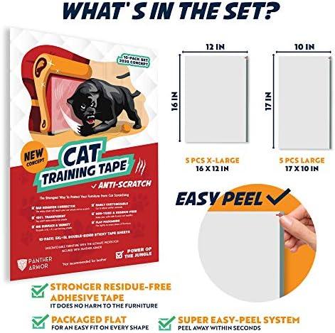 Panther Armor 10 pack de cinta para disuasión de arañazos para gatos 6