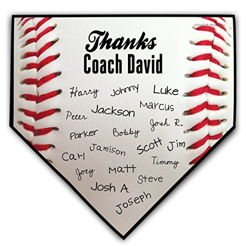 Personalized Baseball Coach Home Plate Plaque | Baseball Plaques by ChalkTalk Sports