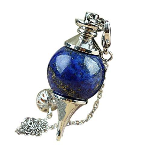 Lapis Lazuli Pendulum - SUNYIK Lapis Lazuli Ball Pendulum Healing Dowsing Reiki Chakra Divination