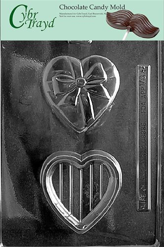 - Cybrtrayd V084 Heart Pour Box with Bow Valentine Chocolate Candy Mold