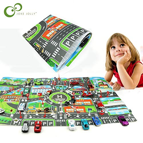 Diecasts & Toy Vehicles - Kids Toys City Parking LOT Roadmap Map DIY Car Model Toys Climbing Mats English Version WYQ - by TINIX - 1 PCs from TINIX