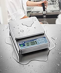 """Fully Submersible Heavy Duty Digital Portion Control Scale 6""""x63/4"""" Platform 20 lbs Capacity 1 Each"""