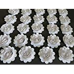 Set-of-24-White-Paper-Carnations-15-Roses-Small-Flowers-Winter-Wedding-Decorations-Most-Popular-Bridal-Shower-Decor-Loose-Floral-Art