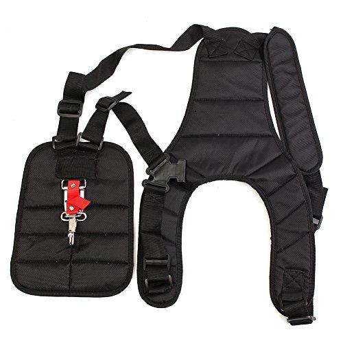 Grass Trimmer Double Shoulder Harness Strap Adjustable Black Nylon Harness Belt For Brush Cutter by Fovolat