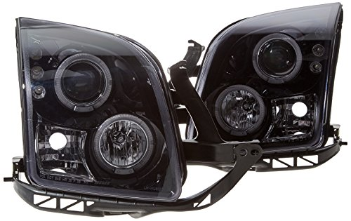 (Spec-D Tuning LHP-FUS06G-TM Ford Fusion S Se Sel Glossy Black Halo Led Projector Head Lights)