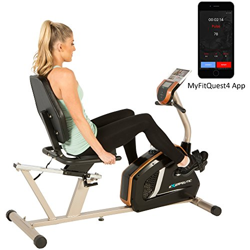 Exerpeutic GOLD 975XBT Bluetooth Smart Technology Recumbent Exercise...