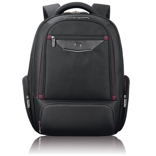 Solo Executive 17.3 Inch Laptop Backpack, Black - Executive Brief Bag