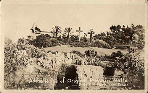 Adobe Ruins of Original Presidio Walls - Presidio Park San Diego, California Original Vintage Postcard ()