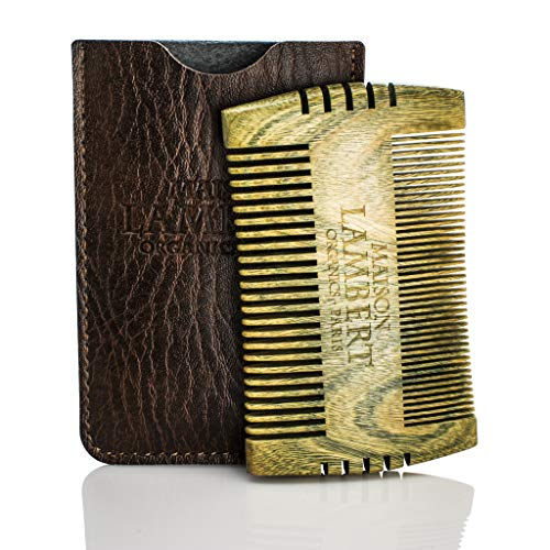 Maison Lambert Ultimate Beard Kit Contains: Organic Beard Balm, Organic Beard Oil, Organic Beard Shampoo, Wood Beard Comb and a Free Organic Body Soap. Perfect fathers day gifts! (Pack in a cigar box)