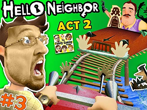 Hello Neighbor Act 2 Pt. 3:  Roller Coaster, Shark & Doll House