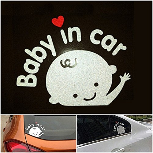 [1 Pcs Paradisiac Popular Baby In Car Sticker Sign Window Logo Auto Waving Decal Vinyl on Board Boy Style Color] (Log Costume)