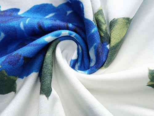Fensace Femmes Une Robe D'été Sans Manches Floral Ligne 18034-3