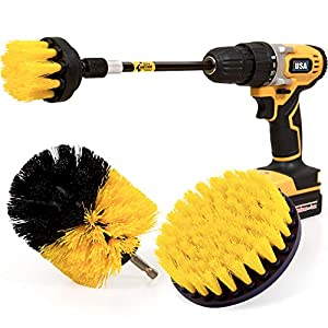 Best Epic Trends 51LlPlv2DZL._SS300_ Holikme 4 Pack Drill Brush Power Scrubber Cleaning Brush Extended Long Attachment Set All Purpose Drill Scrub Brushes…