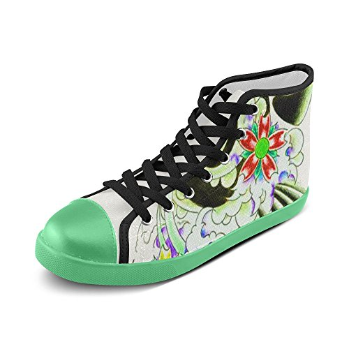 Artsadd Tattoo Walkers High Top Canvas Shoes For Women(Model002) d4IfHVcs9