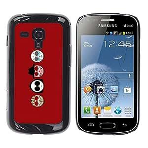 Caucho caso de Shell duro de la cubierta de accesorios de protección BY RAYDREAMMM - Samsung Galaxy S Duos S7562 - Mask Faces Round Smiley Art Cartoon Character