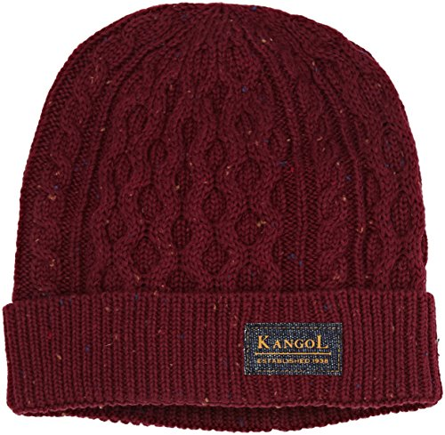 Knep Punto Adulto Red Unisex Pull Gorro de Vino Cable On Kangol 6xfdqwa6