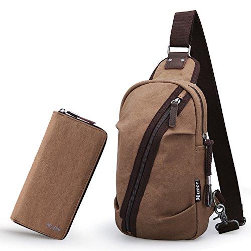 hombres A Bolsa hombro Bolsas bolso casual inclinado de la deportes de lona de C del Bolso Coreano de paquete de bandolera pecho bolso qxtwX1