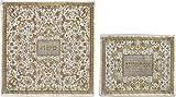 Matzah Cover For Matzah Shmurah Bread Plate Or Tray - Yair Emanuel FULL EMBROIDERED MATZAH COVER SET ORIENTAL IN GOLD GRAY (Bundle)