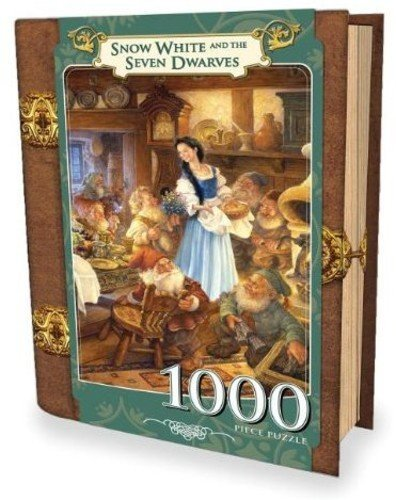 MasterPieces Snow White and the Seven Dwarves Book Box Jigsaw Puzzle, Art by Scott Gustafson, 1000-Piece from MasterPieces