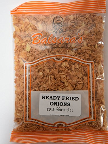 FRIED ONIONS 200g **FREE U.K POST** READY TO EAT CRISPY FRIED ONIONS, FOR BURGERS, CURRIES, BANGERS
