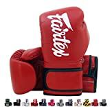 Fairtex Muay Thai Boxing Gloves BGV14 Red w/Black Trim 14 oz Universal All Purposes Training Gloves for Kickboxing MMA K1