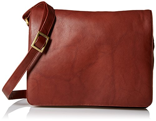 Visconti Visconti Womens Flap-over Shoulder, Crossbody Bag and Messenger Bag, Brown, One Size by Visconti