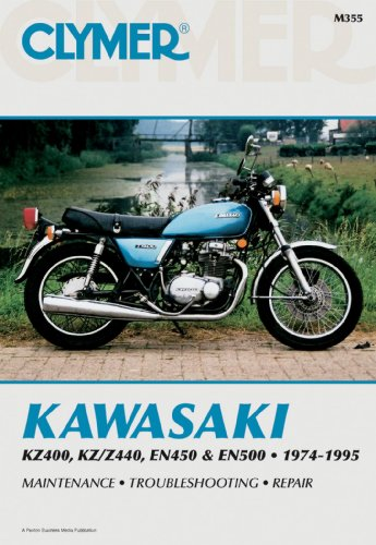 Clymer Repair Manual for Kawasaki KZ400/440 EN450/500 74-95