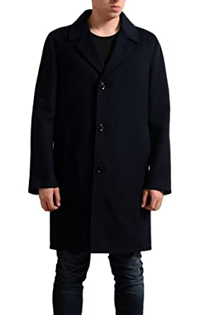 6a49ba6aaee2 Tom Ford Men s Wool Cashmere Navy Blue Three Button Coat at Amazon ...