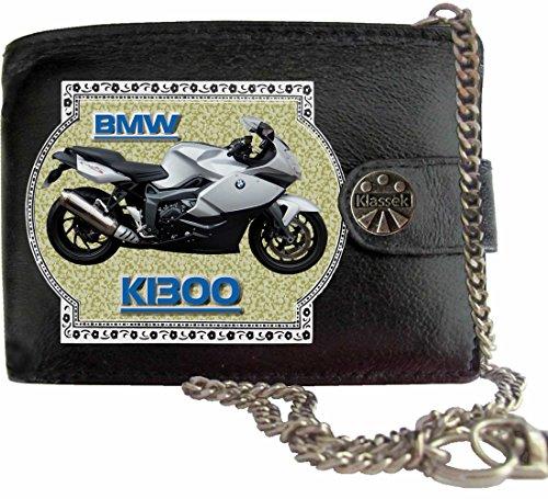 BMW K1300 Klassek Herren Geldbörse Geldbeutel Portemonnaie mit Kette Motorrad Zubehör Bike