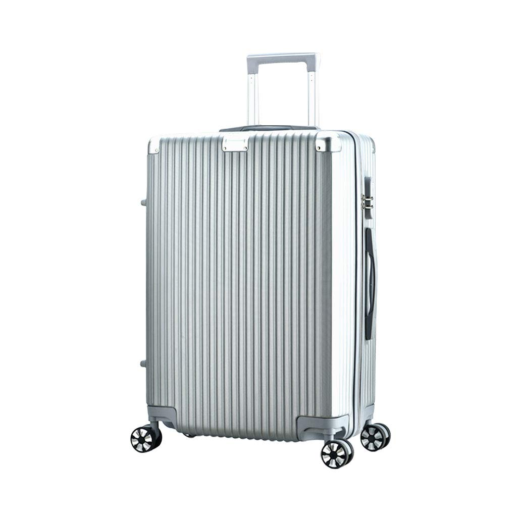 スーツケース超軽量ABSハードシェル旅行は4つのホイール、航空&詳細情報のために承認されたハードシェルトロリーサイズのアドオンキャビンハンド荷物スーツケースキャリー 42*25*63cm  B07P7KL78W