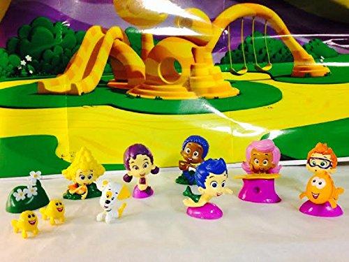 Juego de 12 cifras de guppies de burbujas para decoración de tartas o cupcakes