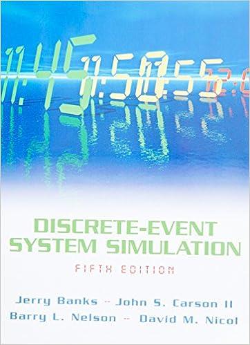 5th Edition Discrete-Event System Simulation