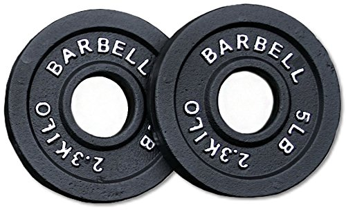 Pair 5 lb. Cast Iron Olympic Plates by Ader Sports