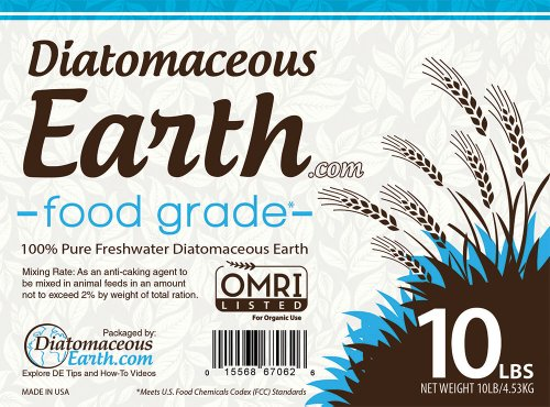 Natural Flea Control - Organic Food Grade Diatomaceous Earth 10lbs by PureEarthD