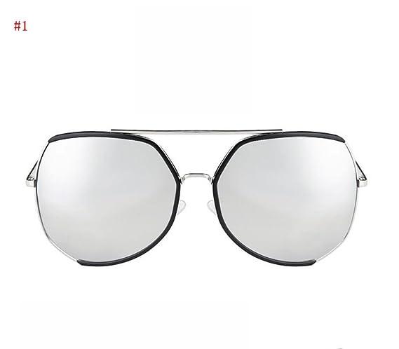 Flashing- Mode tendance lunettes de soleil mode Retro lunettes visage Mme lunettes de réparation Artefact ( Couleur : #5 ) g2dbsrdF