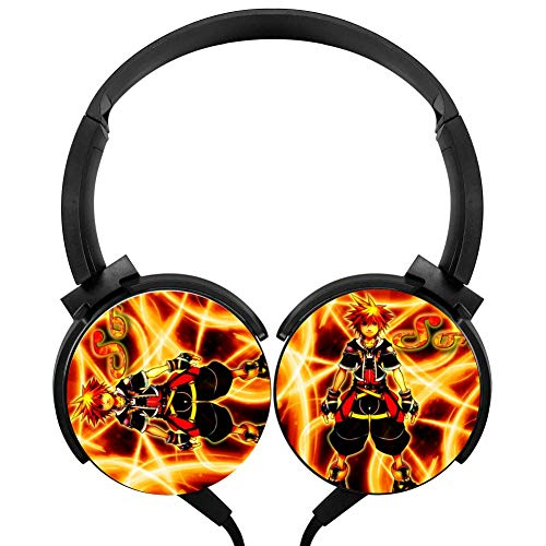 Sora Wired Stereo Headphones Customized Foldable Headsets Over Ear for Kids Or Adults Black