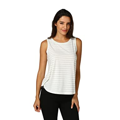 db5c6822c10 Halijack Tank Tops Women Summer Sleeveless Striped Vest Blouse Fashion  Round Neck Camis Crop Tops Loose Casual Gym Fitness Vest Top Shirt   Amazon.co.uk  ...