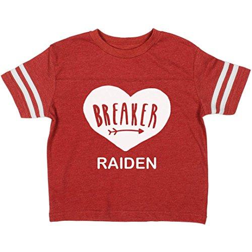 Little Valentine's Day Heartbreaker Raiden: Toddler Rabbit Skins Football Tee