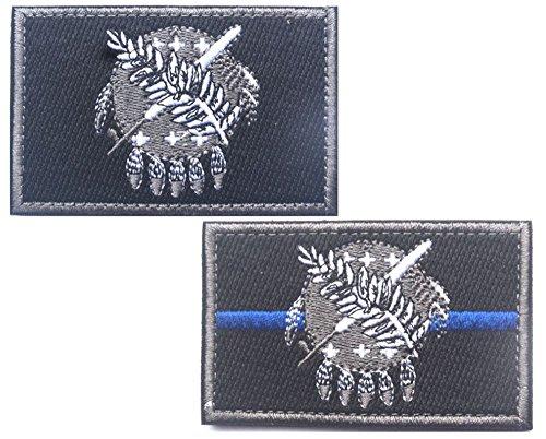 HFDA 2 piece OKLAHOMA Flag Patches Velcro Morale Patches Clo