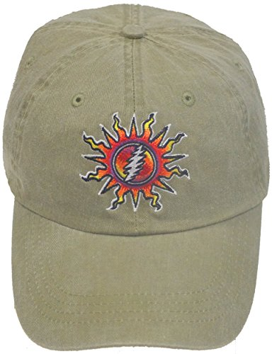 - Grateful Dead Embroidered Sunshine Daydream Tan Cap by Dye The Sky (Ajustable)