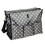 Wheelchair Bag for Back of Chair w/ 5 Exterior & 5 Interior Pockets - Perfect Carrier Bag for Newspaper, Medical Paperwork, Blanket for Most Electric, Manual or Power Wheelchairs (Pop Lights)