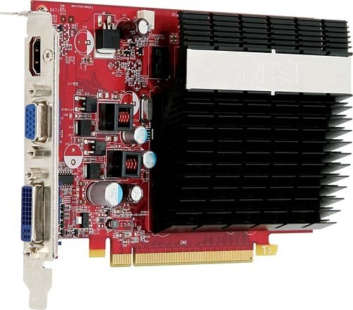 Photo - Nvidia GEFORCE9400GT Pcie 512M HDmi Dvi Tvout Passive Heatsink