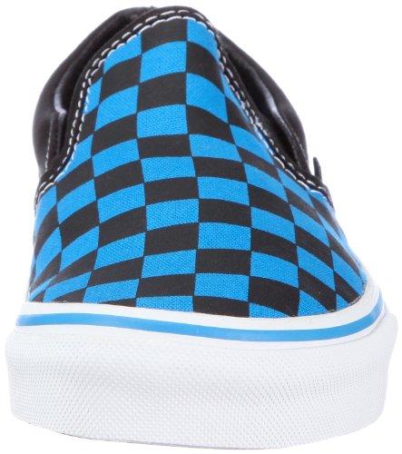 Vans Classic Slip-On - Mocasines unisex Azul (Checkerboard brilliant blue/black)