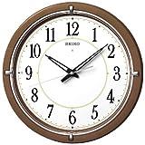 (セイコークロック) SEIKO CLOCK ファインライトNEO LEDライト付き電波壁掛け時計 KX395B 新自動点灯機能 茶色白 アナログ