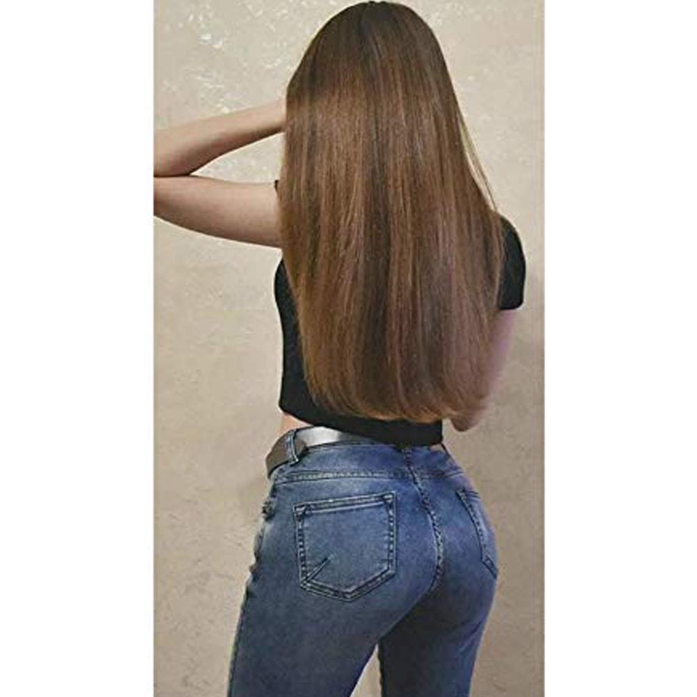 【Easter's Off Starts】Moresoo 14 Inch Tape in Hair Extension Remy Hair Color #9A Brown Straight Hair Extensions 80G 40PCS Per Package Soft Seamless Human Hair Extensions 51LlTmv0L-L