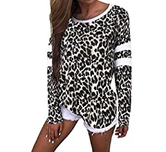 Rayures pour femme oversize boyfriend T Robe Chemise Casual Tee Baggy Loose Long Tops