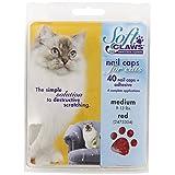 Soft Claws Feline Cat Nail Caps Take-Home Kit, Medium, Red