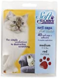 Soft Claws for Cats - CLS (Cleat Lock System) - Size Medium - Color Red